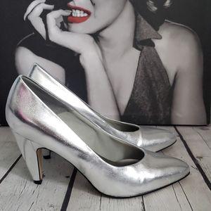 Vintage Joyce metallic Silver Pump High Heels